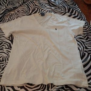 Ralph Lauren white polo